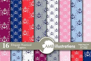 Nautical Digital Papers, AMB-807