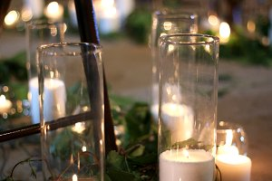 Candles in loft design