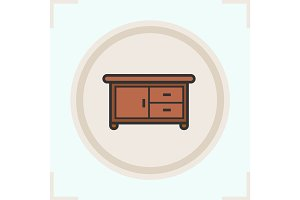 Kitchen counter color icon