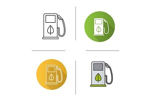 Eco fuel concept icon