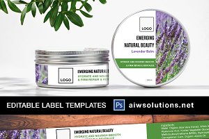 8oz Label Template-id24