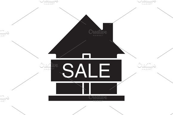 House For Sale Glyph Icon