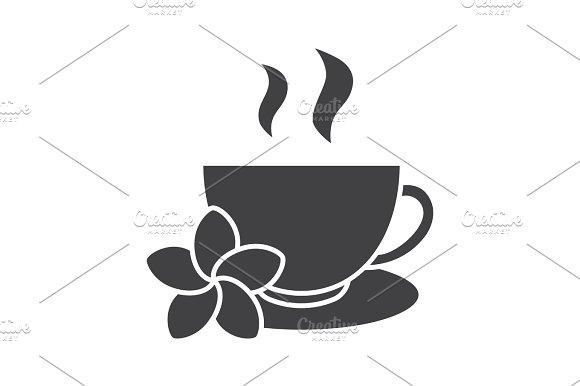 Herbal Teacup Glyph Icon