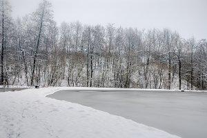 Winter time / lake / ice