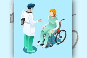 Medical Professionals Isometric