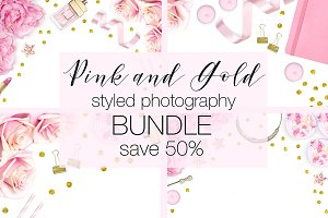 Pink and Gold Stock Photo Bundle
