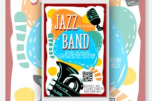 Music Jazz Band Concert Vector