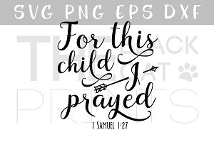 For this child I prayed Arrow SVG