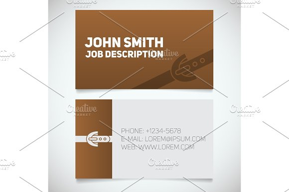 Business Card Print Template With Leather Belt Logo