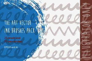 The Art Vector Ink Brushes Pack