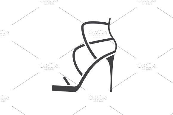 High Heel Shoe Glyph Icon