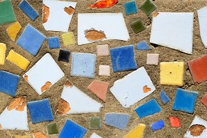 Abstract colorful tiles background