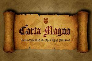 Carta Magna, gothic fonts