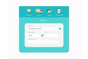 vector flat checkout design