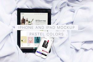 Pastel colors iPhone & iPad Mockup
