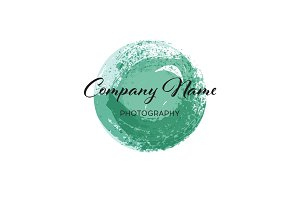 Vector brush logo design template for Corporate, Media, Technology style.