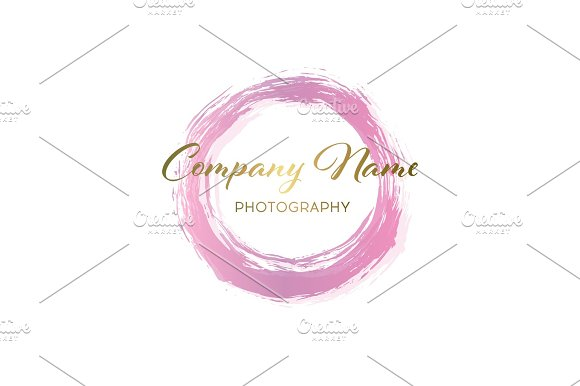 Pink Business Abstract Circle Icon Vector Logo Design Template For Corporate Media Technology Style