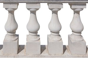 Baluster spindle (balaustrade) isolated over white