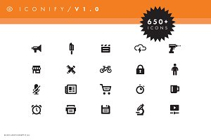 650 Icons of Everyday Objects