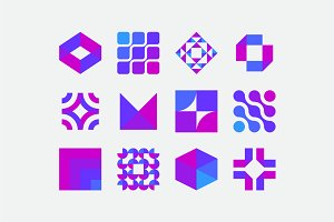 Minimal Abstract Geometric Icons 1