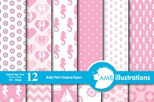 Nautical Pink Papers, AMB-188