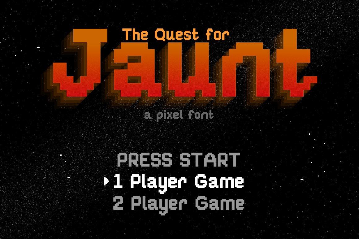 Jaunt 8 Bit Pixel Font Sans Serif Fonts Creative Market
