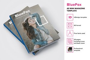 BlueFox - A5 mini magazine template