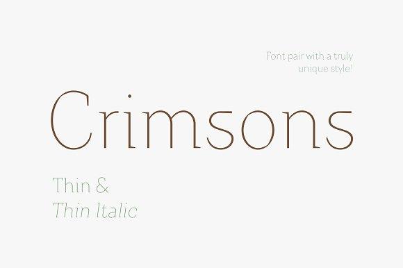 Crimsons Thin Thin Italic