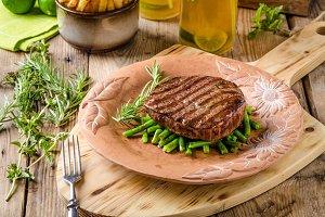 Beef sirloin steak