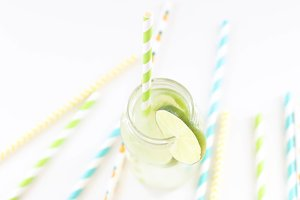 Lemonade & Straws - Styled Photo