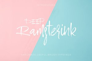 Ramsterink Script  Brush Font