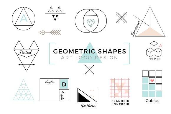 Vector Geometric Shapes Art Logo
