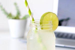 Lemonade & Laptop III - Styled Photo