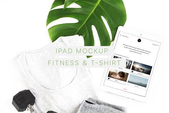 Download iPad Mockup. Fitness & T-Shirt