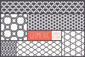 Geometric Seamless Patterns Set 2