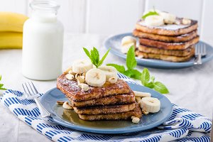French toast with banana