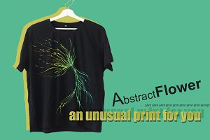 print abstract flower