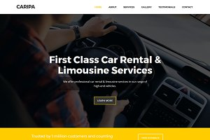Caripa - Car Rental Website Template