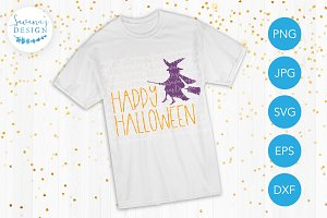 Happy Halloween Witch SVG Cut Files