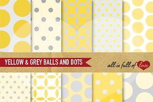 Yellow Dotted Scrapboking Paper