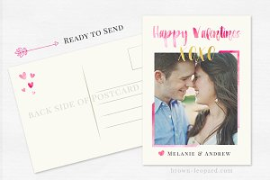 Valentine's Day Card Template - 5x7""