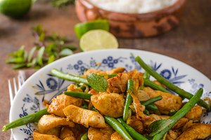 Stir fry chicken