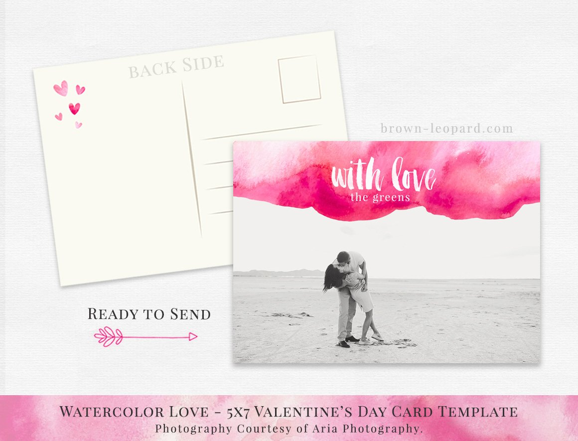 Valentines Day Card Template 5x7 Card Templates Creative Market
