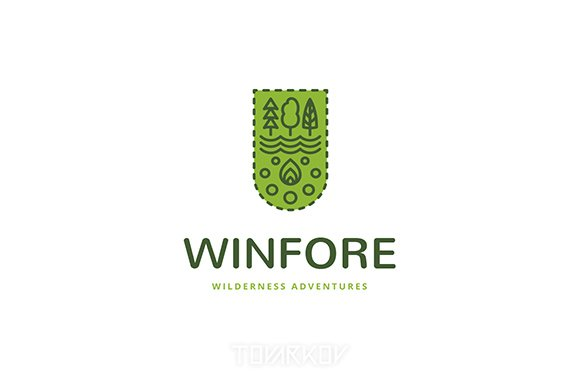 Winfore Camping Logo Template