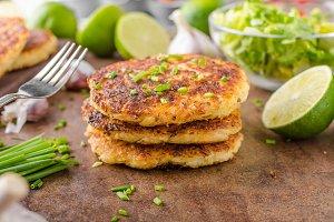 Potato pancakes with garlic