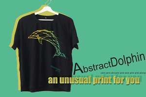 Dolphin print t-shirt