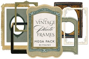 Vintage Photo Frames Mega Pack