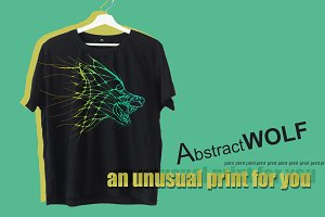 print wolf t-shirt