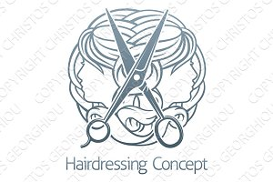 Hair Salon Stylist Hairdresser Concept