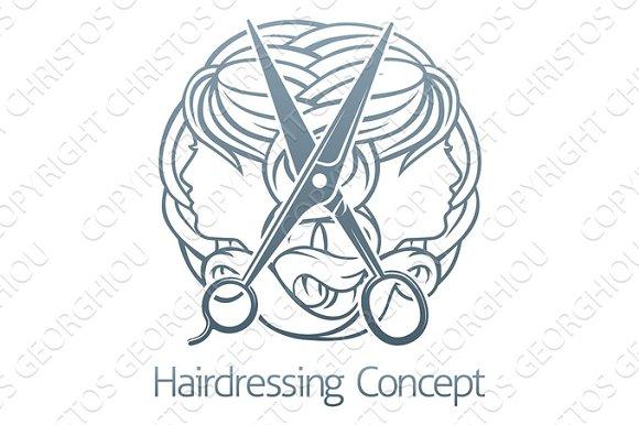 Hair Salon Stylist Hairdresser Concept